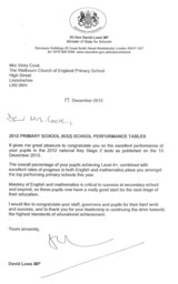 Letter from Rt Hon David Laws MP