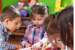 Young children in school